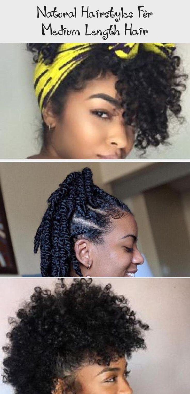 natural hairstyles for medium length hair natural