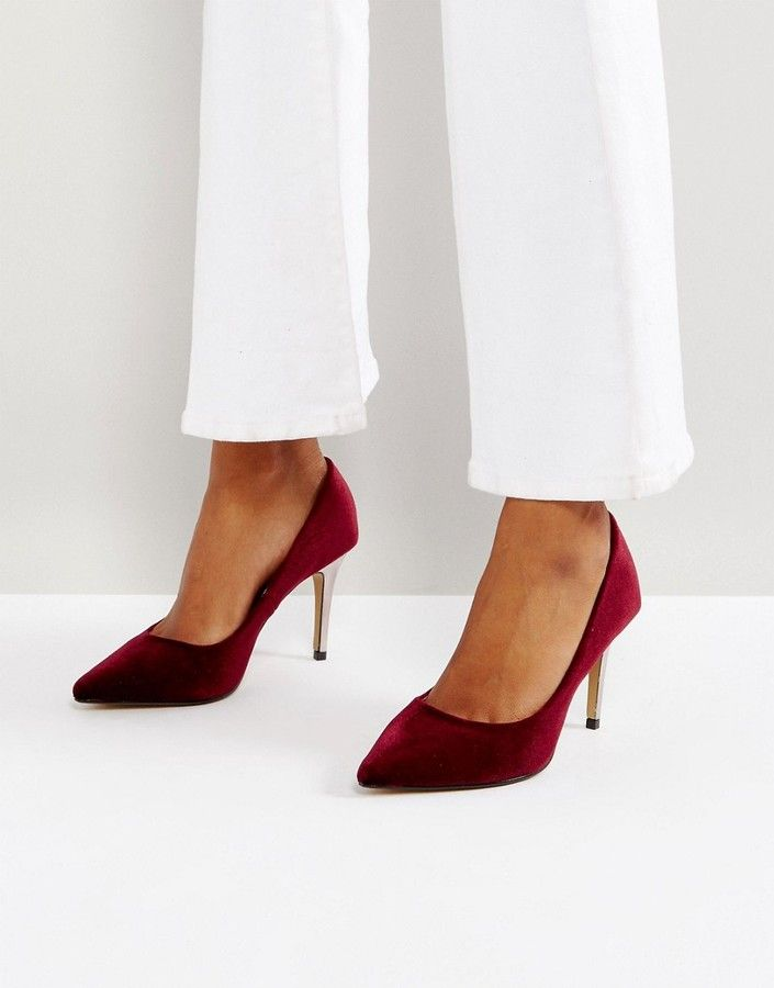 975365f640a1 Head Over Heels by Dune Alana Velvet Pointed Pumps