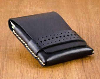 Minimalist Leather Wallet -  Slim Leather Wallet - Mens Wallet