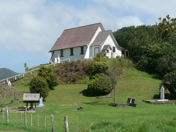 Anglican church below Whangatauatia