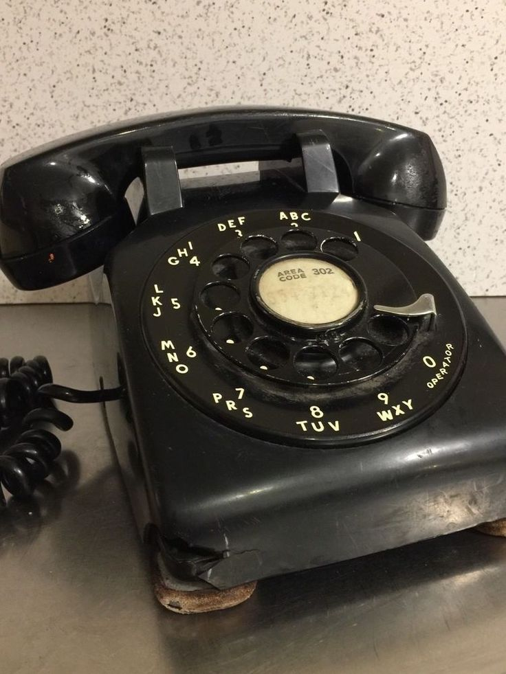 Vintage Telephone Black Plastic Bell System Western Electric Rotary Dial USA #WesternElectric