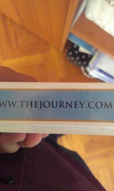 Naam van een website op een doosje