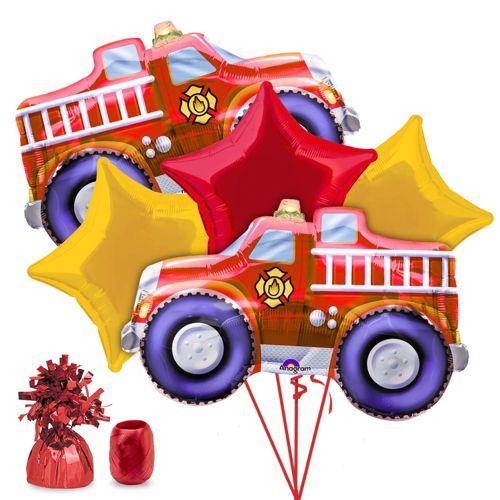Fire Engine Party Balloon Kit -Balloon Kits Party Supplies