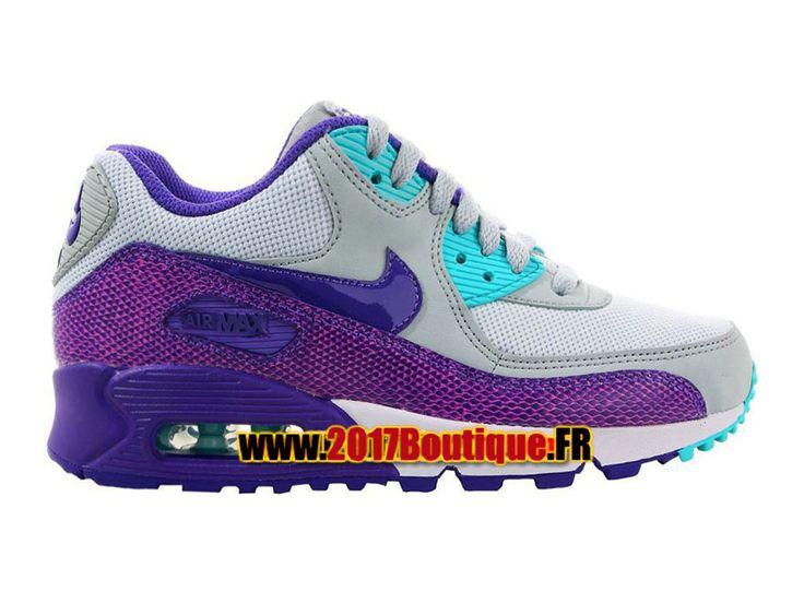 Nike Air Max 90 PS Chaussure Nike Basketball Pas Cher Pour Enfant Gris/Bleu 325213-036E