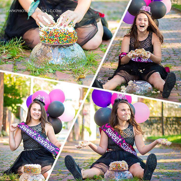 Sweet Sixteen Birthday cake smash ,Cincinnati Family Photographer ,sarah lewis photography, 16th Birthday Ideas, Sweet 16, Cake smash, adult cake smash