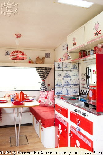 Love the interior of this caravan ..
