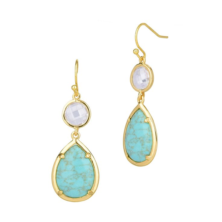 Turquoise earrings perfect for summer/spring jewelries. For working mommies, simple and cheerful colors of earrings.