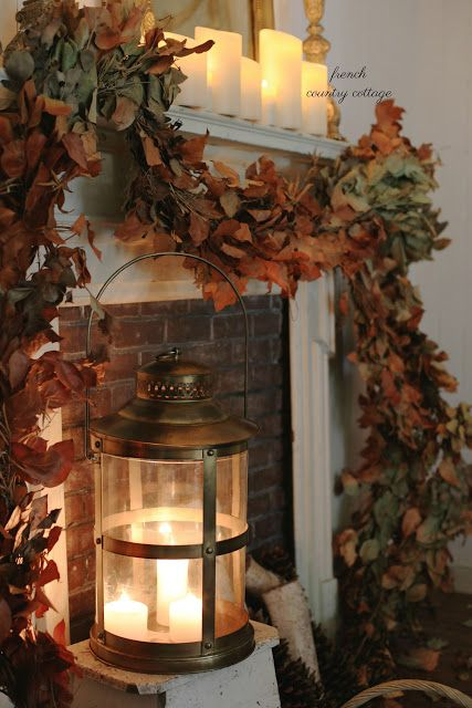 Simple Elegant Autumn Mantel with Balsam Hill