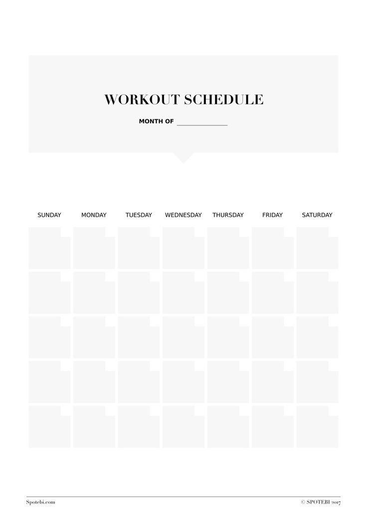 weekly workout template