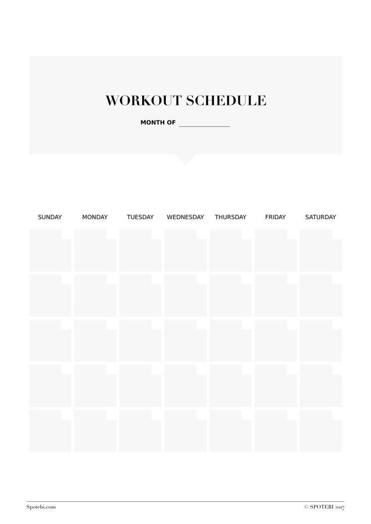The 25+ best Workout template ideas on Pinterest Need motivation - workout calendar template