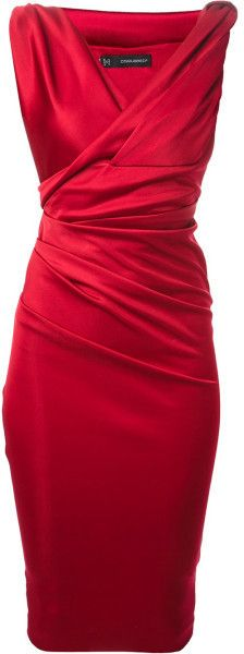 Dsquared2 Fitted Dress in Red | Lyst