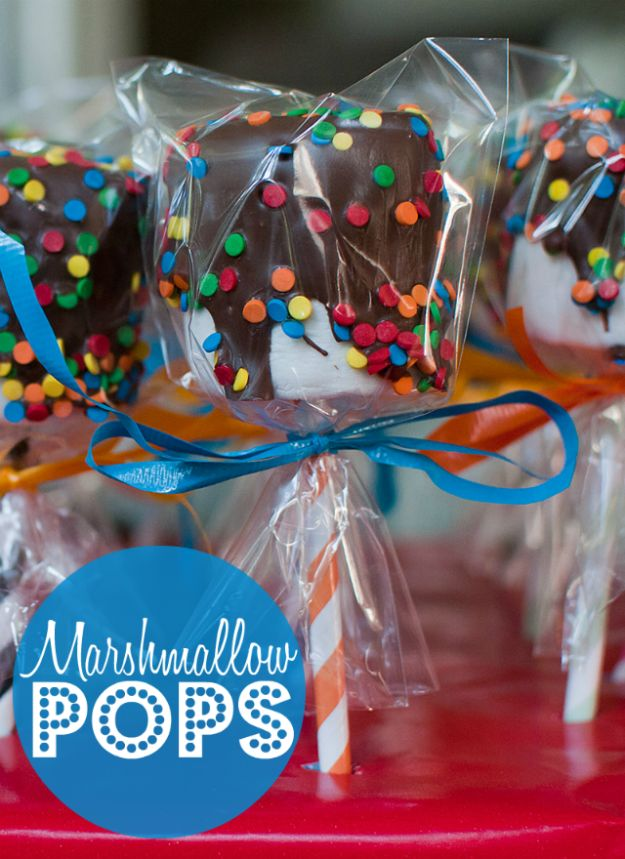Can't go wrong with marshmallow pops! | 19 Impossibly Cute Treats You Can Make For Your Kid And His Classmates