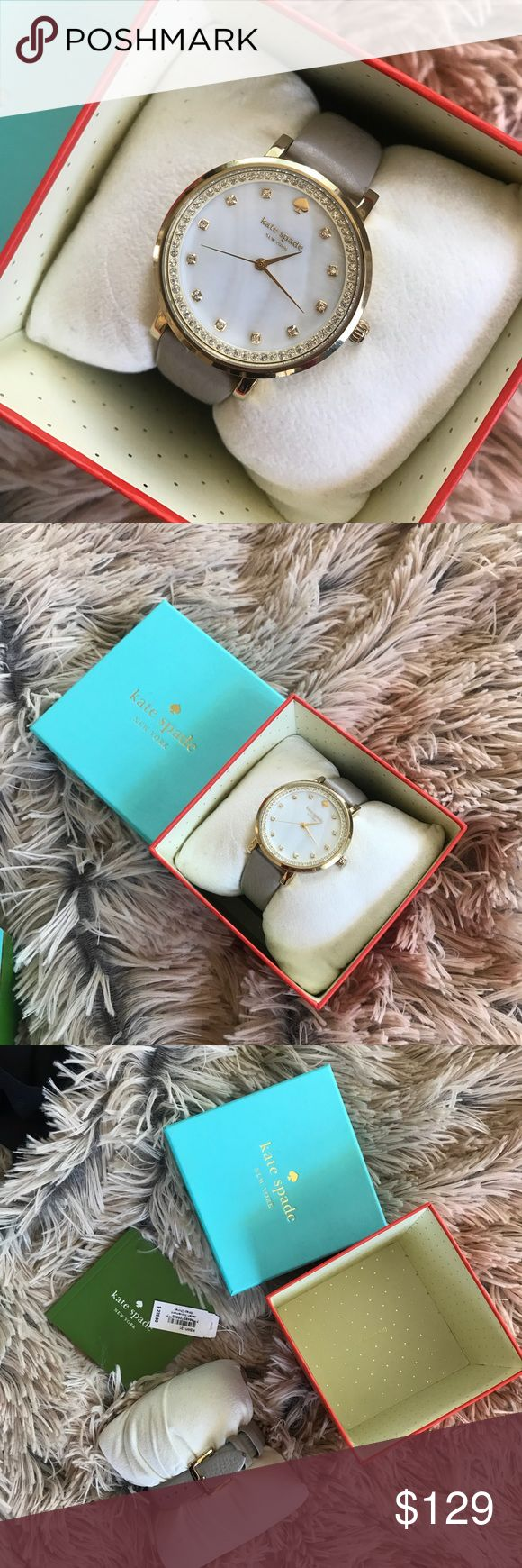 Kate Spade gold watch diamonds 💎 Beautiful watch only worn a couple times great condition. Comes with box and original tag $255 retail. kate spade Accessories Watches