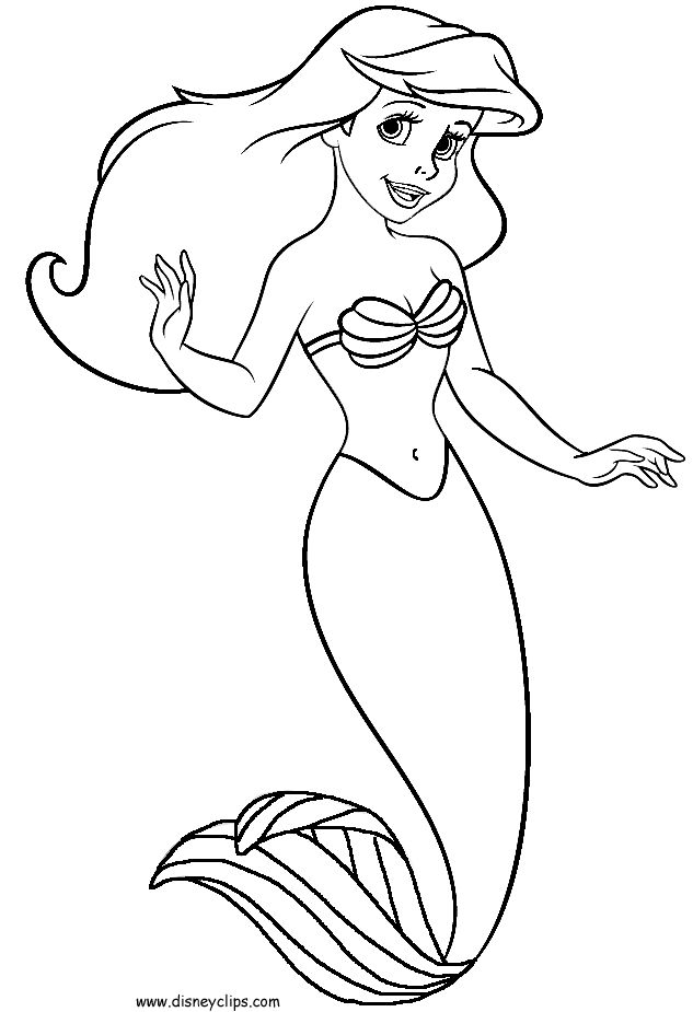 Lovely Mermaid Coloring Pages Online