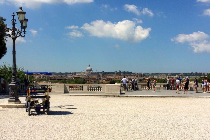 pincio in august - no crowds