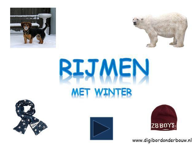 Powerpoint Downloads - Rijmen met de winter.