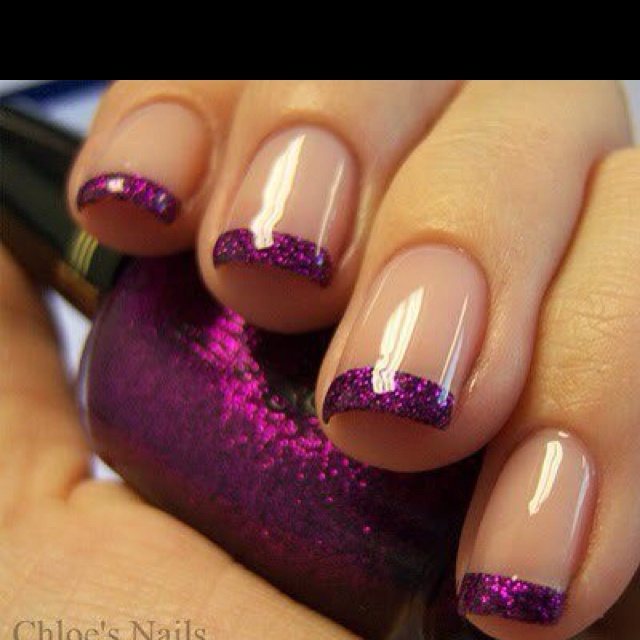 Chloe's Nails via Totsy Not a typical French manicure
