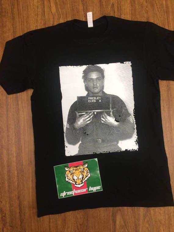 Elvis presley Mug Shot  T-shirt t-shirt yeezus future hip pop
