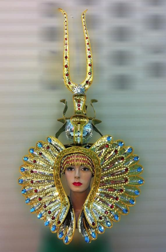 Costumes, Reenactment, Theater GOLD WING ORIENTAL FANCY Drag Pageant CABARET HEADDRESS