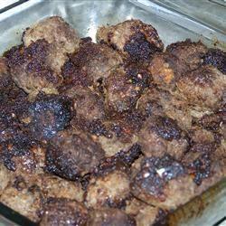 Boulettes de viande d'orignal au miel et à l'ail