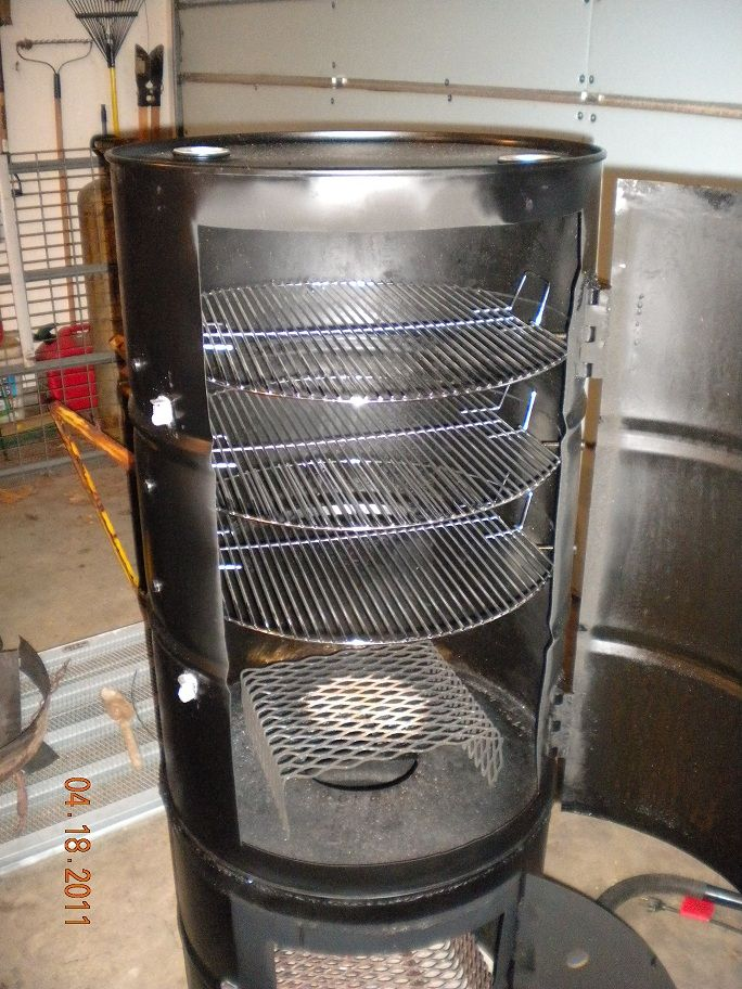 vertical barrel smoker ...