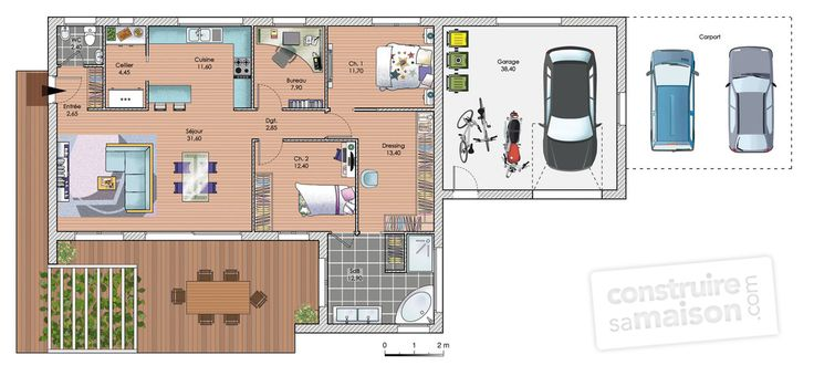 54 best plan images on Pinterest Blueprints for homes, Future - plan petite maison 70 m2