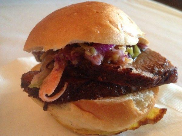 Brisket Sandwich with Bourbon BBQ Coleslaw from Ho-Ho-Kus Inn