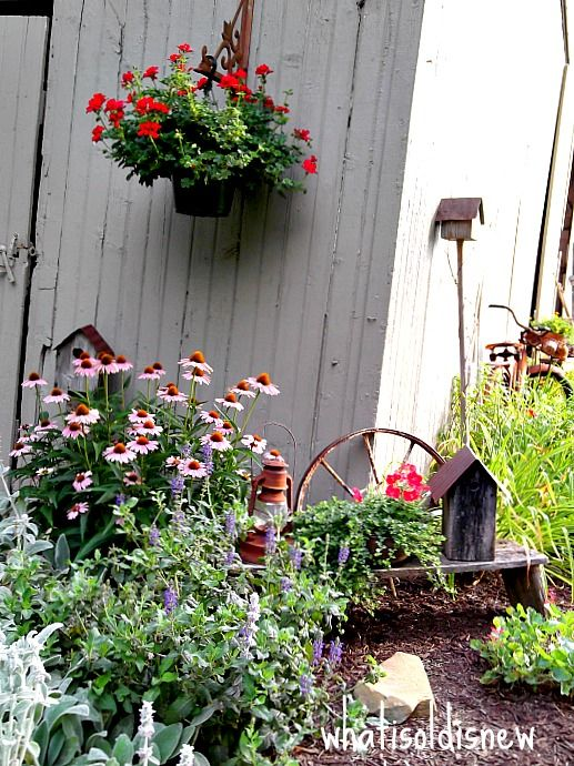 131 best images about primitive gardens on pinterest gardens planters and wash tubs - Rustic flower gardens ...