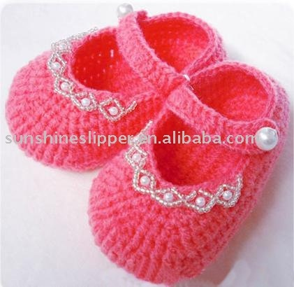 knitted baby shoes - These are adorable, but only for inspiration