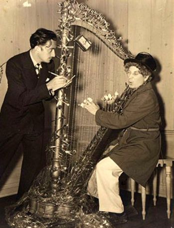 One of my favorite presents of all time: A harp given by Surrealist artist Salvador Dali to Harpo Marx.  What was so special about it?  Its strings were made of barbed wire.