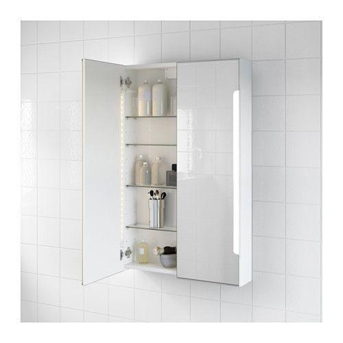 Spiegelschrank Mit Beleuchtung Ikea :  Spiegelschrank m 2 Türen+int Bel  60x14x96 cm  2×60= 460€ IKEA
