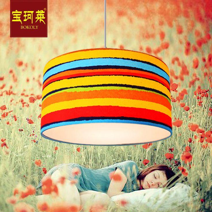 Мальчики и девочки принцесса детская комната ресторан лампы спальни люстры пастырской стиль Творческий круговой радуги цветной люстра с - Taobao