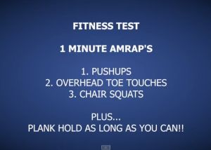 Fitness Test Home workout http://hillworks.com.au/hwow