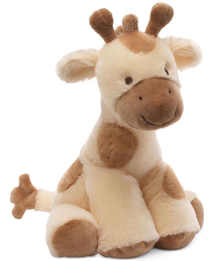 Give your little one a cute and cuddly bedtime companion with this Niffer Giraffe Delux stuffed animal from Gund! | Polyester | Surface washable | Imported | Plays a lullaby when you wind him up | Web