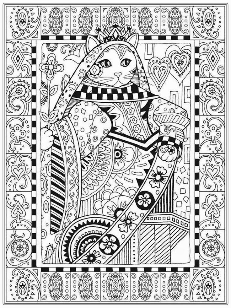 18 best zenbroidery images on Pinterest Coloring pages, Adult - best of coloring pages black cat