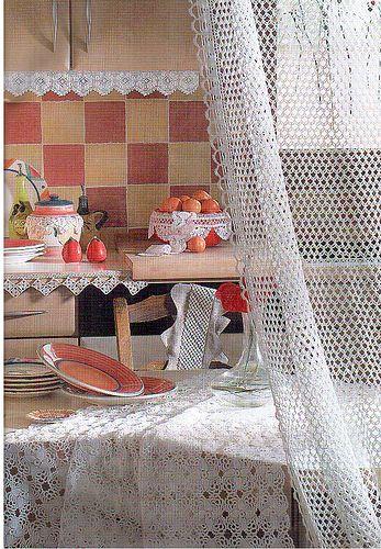 CROCHETBUTTERFLY: Crochet Curtain Pattern Curtain Patterns Crochet stitches