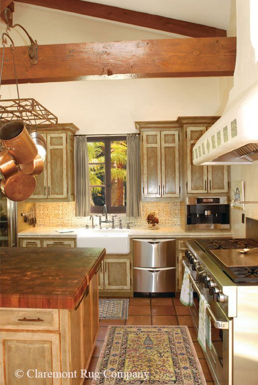 25 best images about antique rugs in kitchens on pinterest for Traditional kitchen rugs