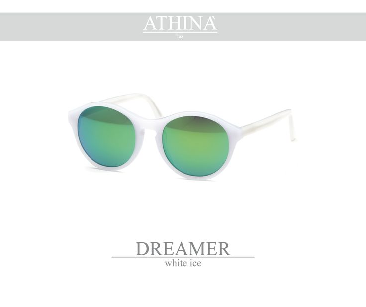 Mod. DRE0404M02 Handmade in a transparent green acetate of cellullose with mirror grey lenses.