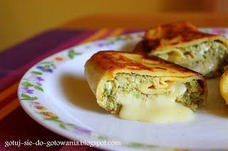 gotuj się do gotowania!: Naleśniki z kurczakiem, brokułami i serem.