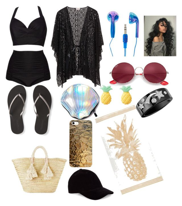 Beach by maria-klrt on Polyvore featuring polyvore fashion style Aéropostale Giselle Circus by Sam Edelman Chanel Ray-Ban Le Amonie clothing
