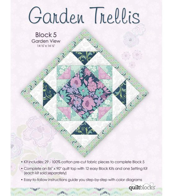 Quilt block of the month garden trellis block 5 quilts for Garden trellis designs quilt patterns