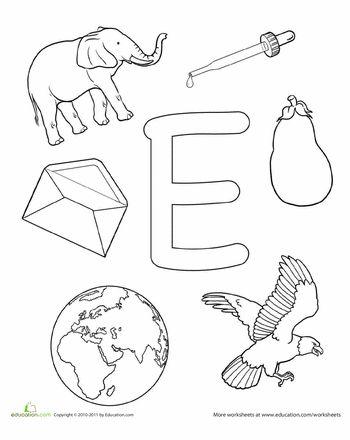 82 Best E Is For Alphabet Images On Pinterest Alphabet Crafts