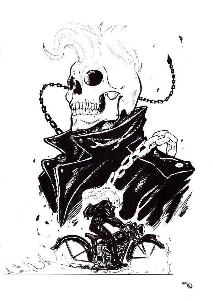 Rockabilly Ghost Rider by DenisM79.deviantart.com on @DeviantArt