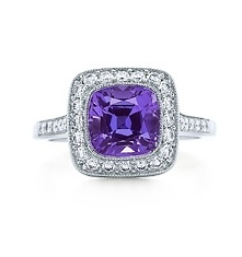 Tiffany Legacy Collection  Purple sapphire ring