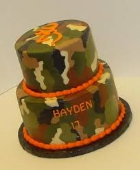 camouflage cakes baby shower - Google Search