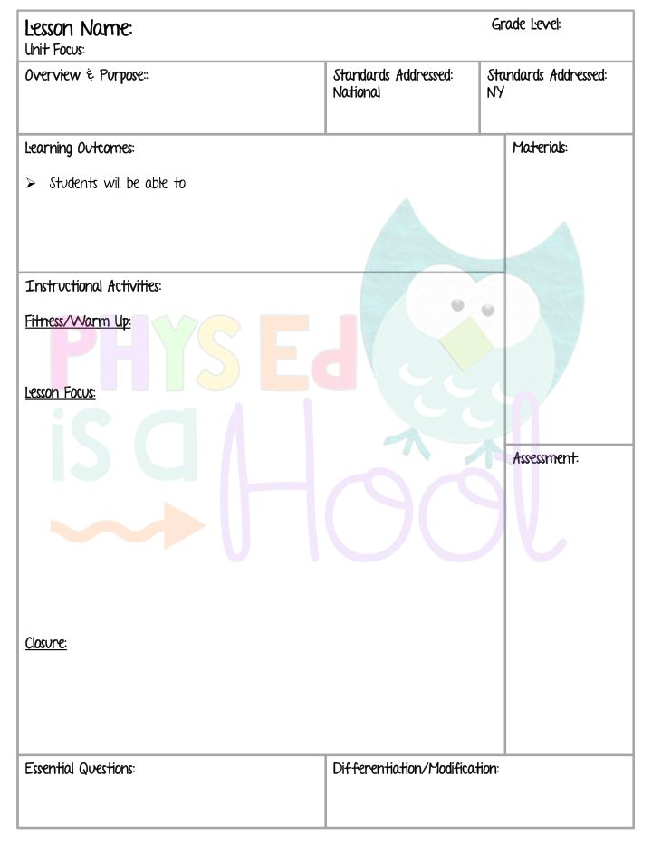 65 best PE Lesson Plans images – Sample Physical Education Lesson Plan Template
