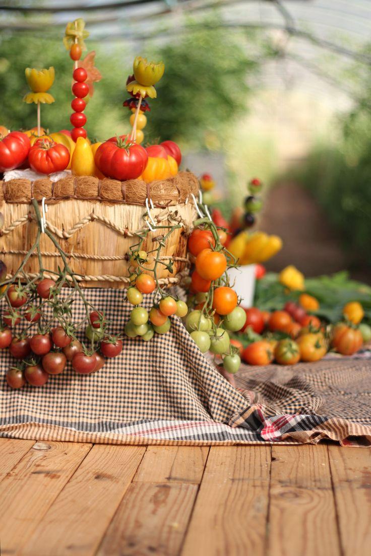 Mesas con tomates