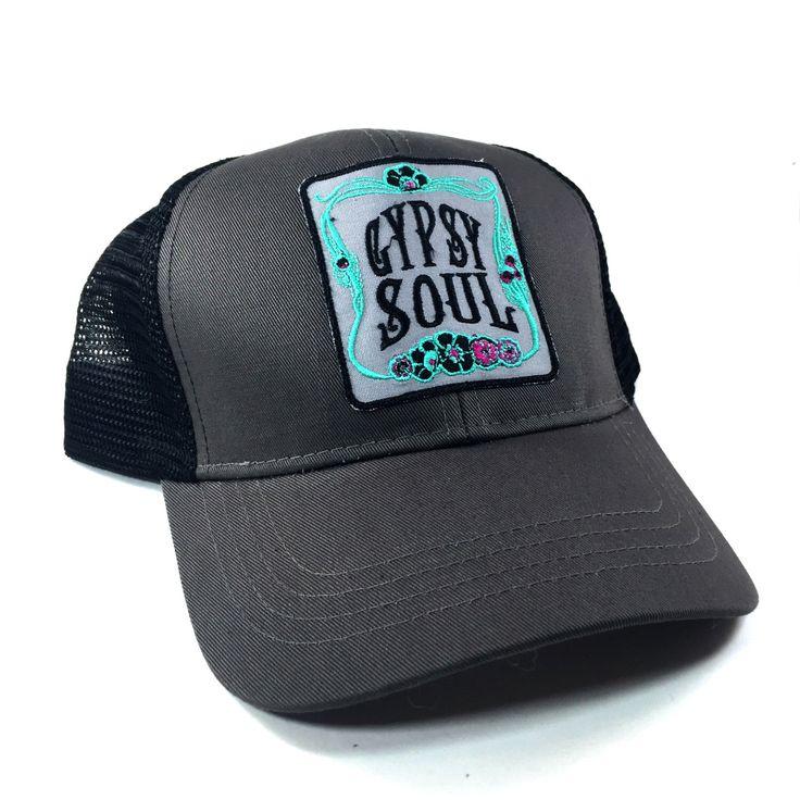 Trucker Hat, Gypsy Soul, Snapback, Womens Trucker Hat, Girls Snapback, Snapback Hat by BohoCircus on Etsy https://www.etsy.com/listing/489132035/trucker-hat-gypsy-soul-snapback-womens