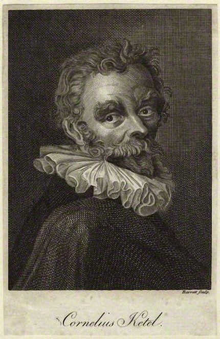 Hendrik Bary or Barrett Portrait of Cornelis Ketel.