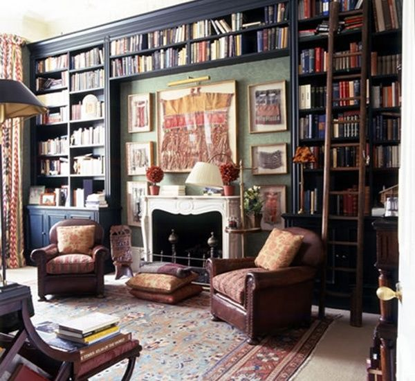 Fun And Cozy Library Design By Yta: 17 Best Images About Bookshelves & Bookcase On Pinterest